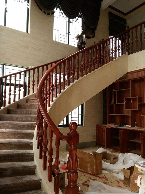三亚弧弯楼梯扶手案例20_弧形