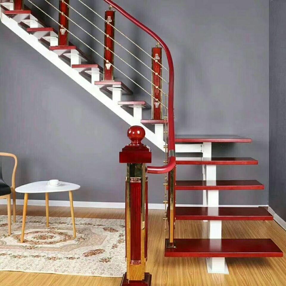 【产品9】钢木整体楼梯全套