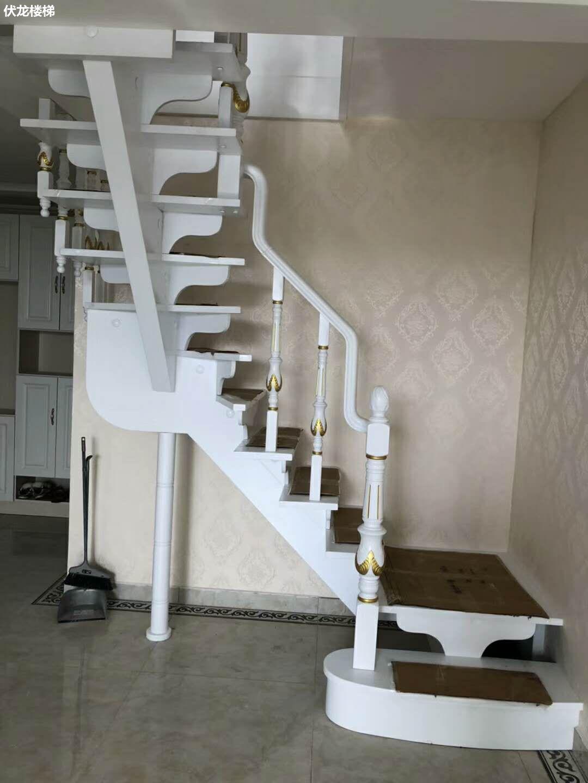 【产品17】实木整体复式楼梯-阁楼楼梯