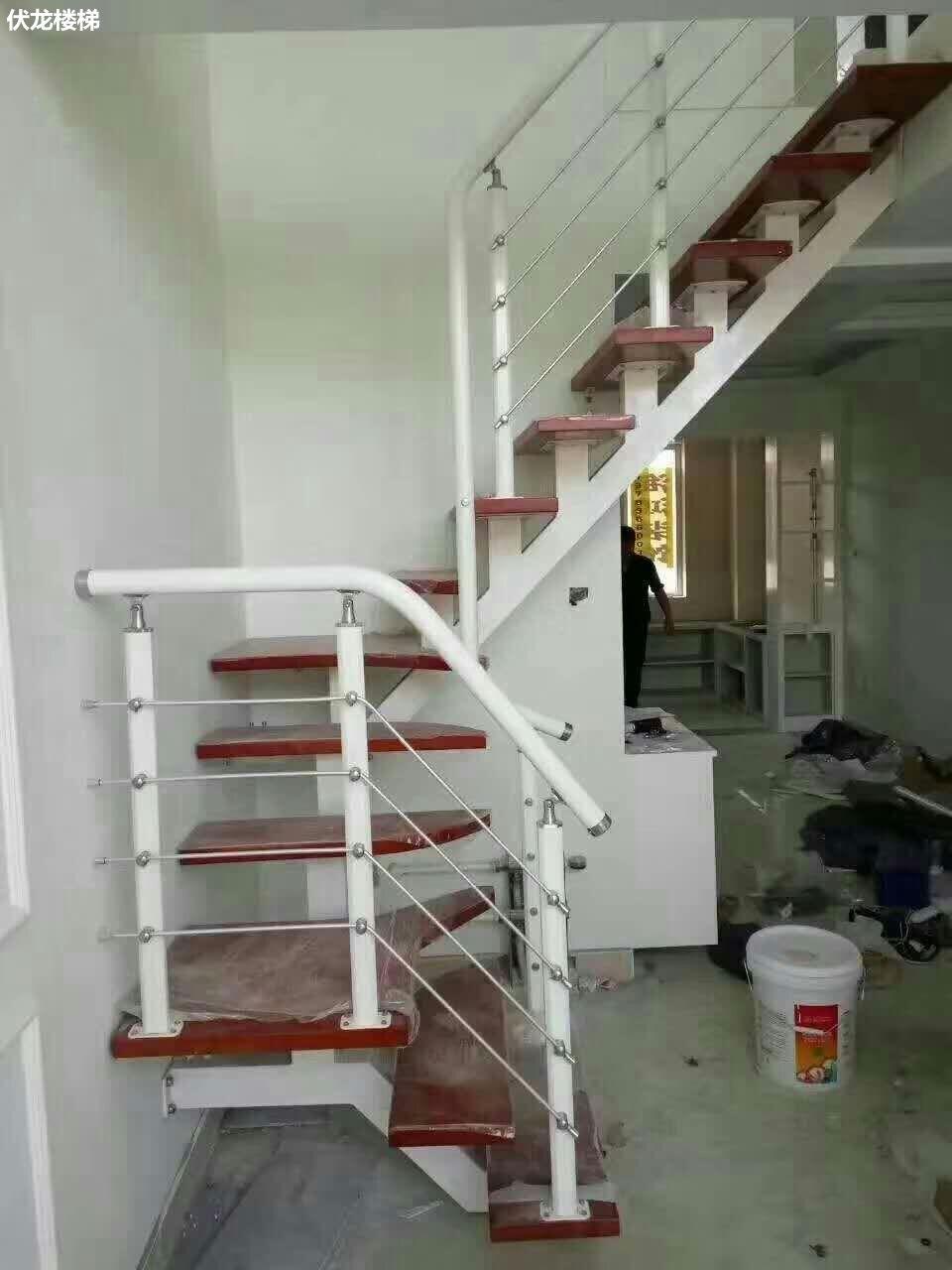 【产品16】不锈钢拉丝扶手-复式楼梯阁楼楼梯整体楼梯