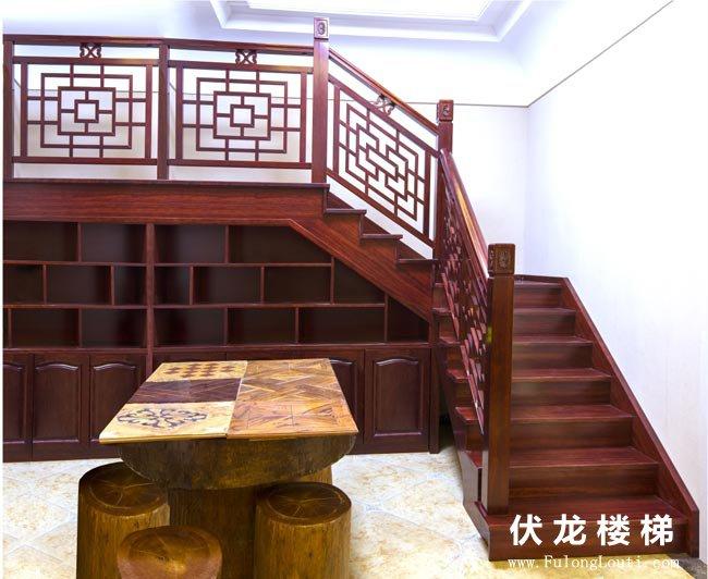 【产品23】橡木中式风格实木整体楼梯