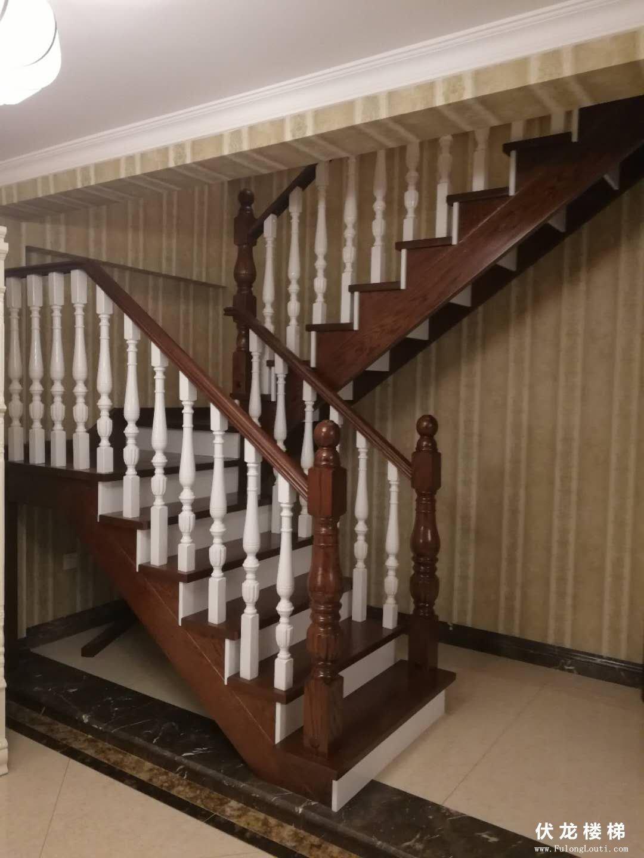 【产品20】全实木复式整体楼梯
