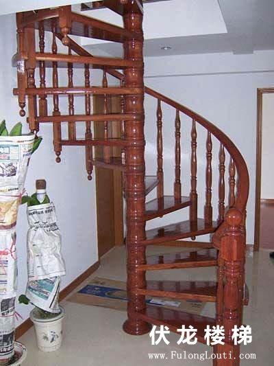 【产品6】实木旋转楼梯-复式阁楼楼梯