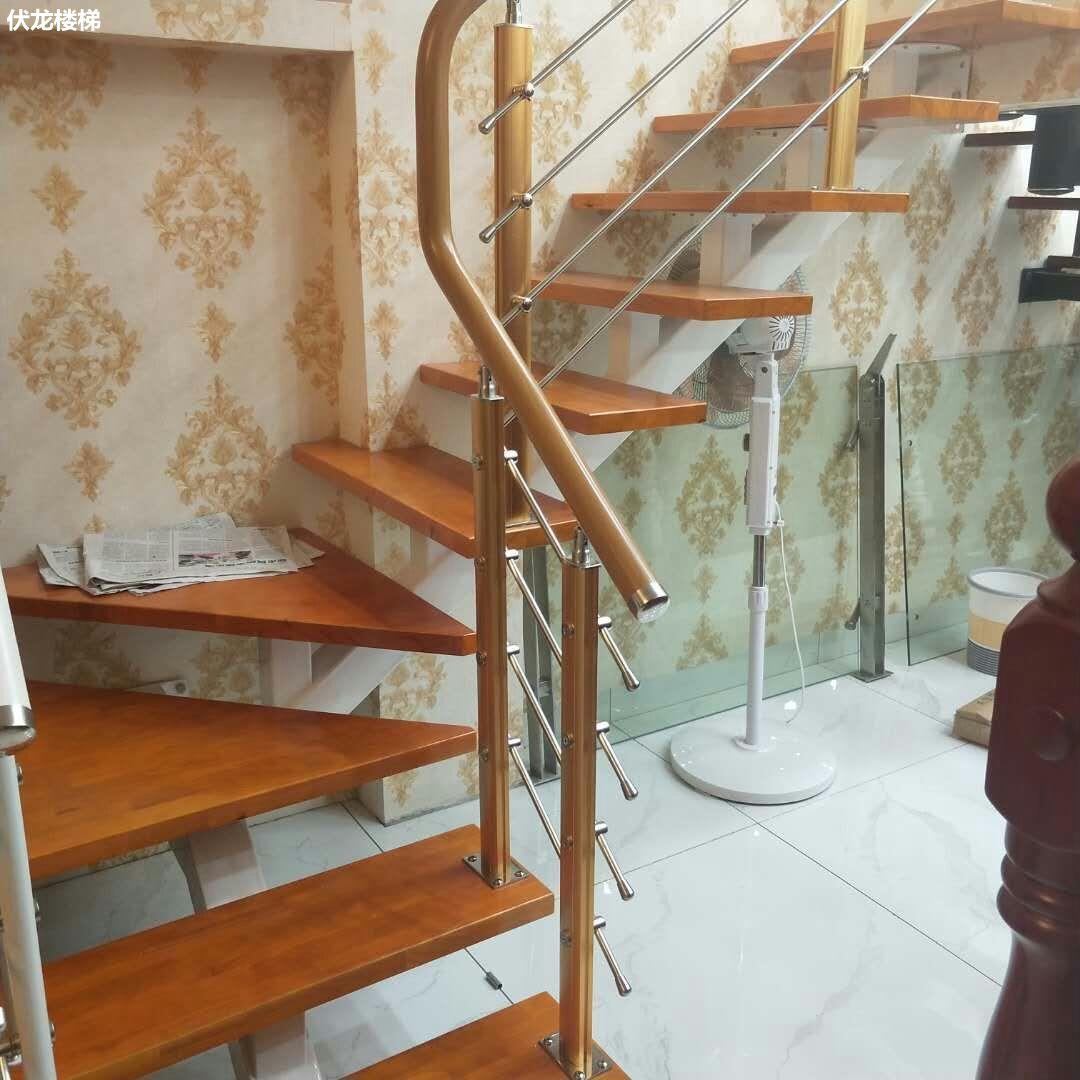 【产品13】复式楼梯定制-不锈钢楼梯扶手