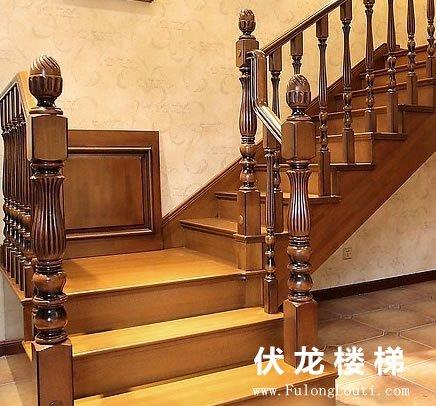 【产品25】红木整体楼梯_实木