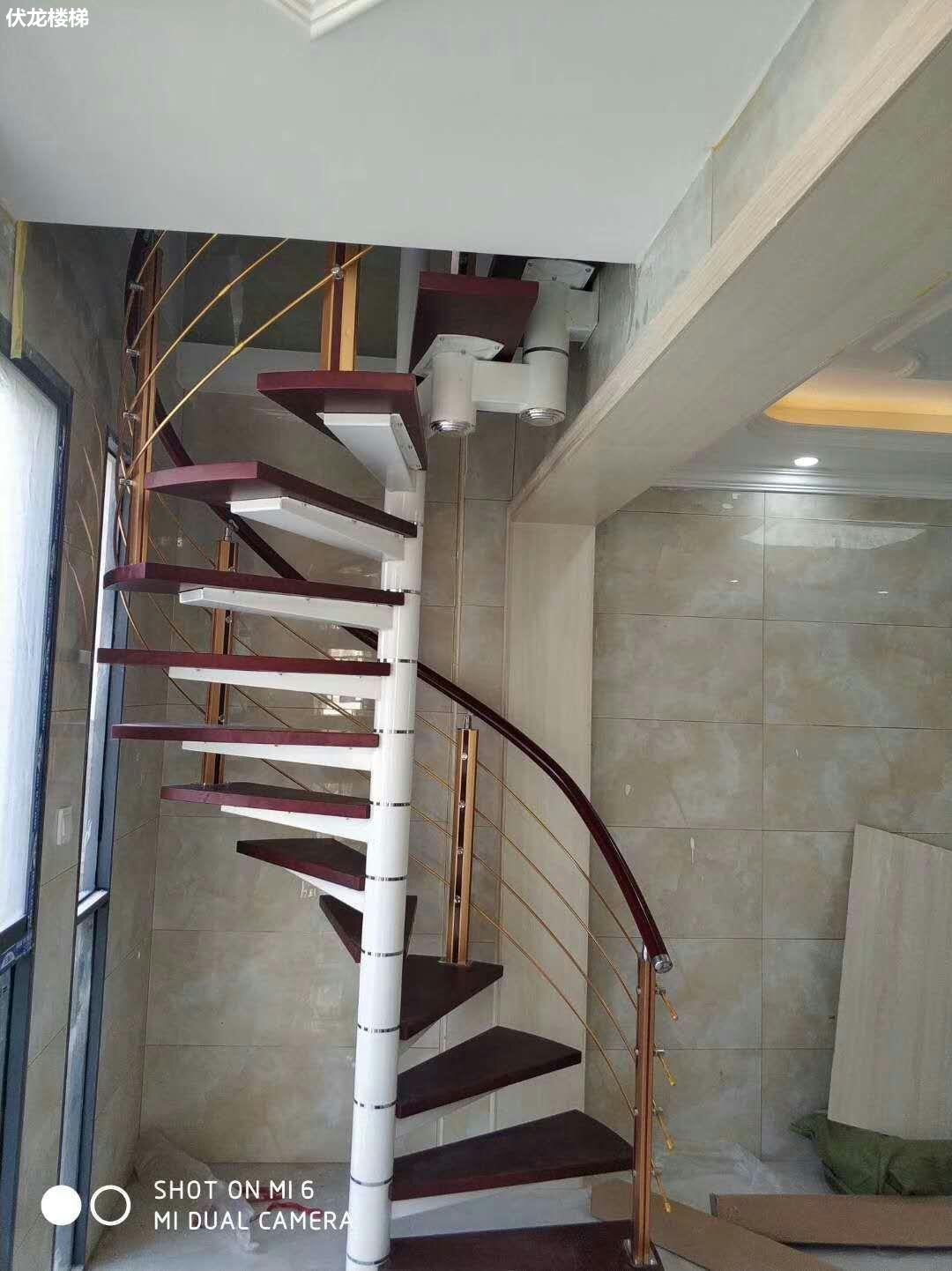 【产品2】复式旋转楼梯-阁楼整体楼梯