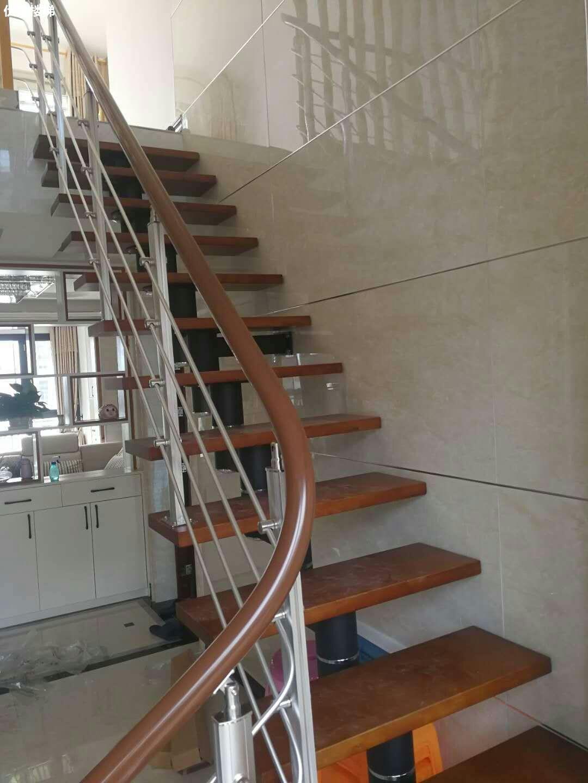 【产品14】复式整体楼梯定制-不锈钢楼梯扶手