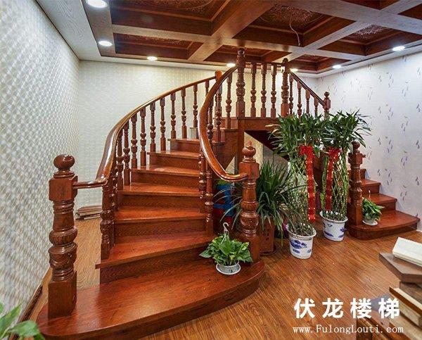 【产品8】弧形弧弯楼梯扶手展示