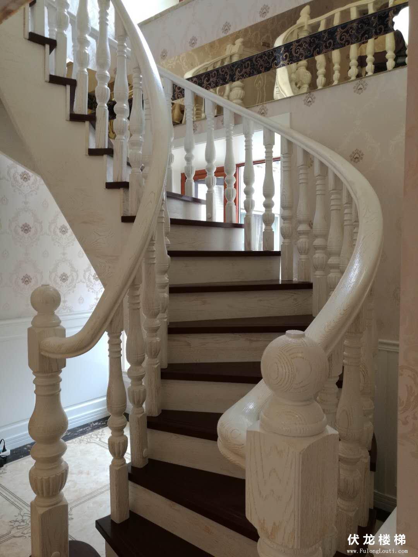 【产品5】复式弧形整体楼梯扶手