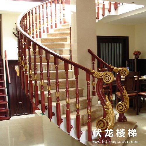 【产品11】凤凰柱豪华弧形楼梯