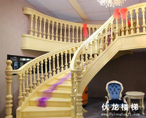 【产品12】别墅弧形整体楼梯展