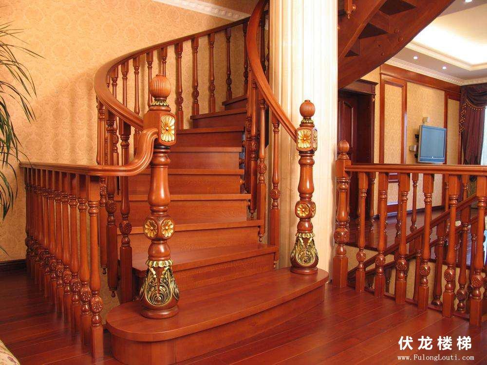 【产品6】实木复式楼梯-弧形整
