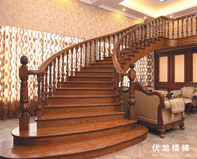 【产品4】高端弧形整体楼梯扶手